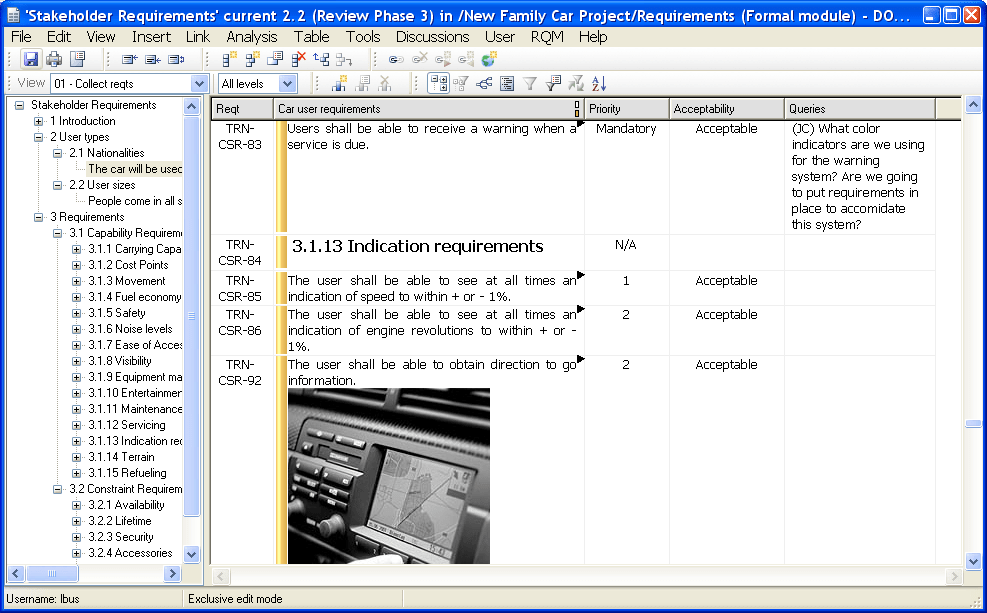 Rational Doors (IBM) screenshot(s)  sc 1 st  iTlearn360 & Rational Doors (IBM) | Products | IT learn 360